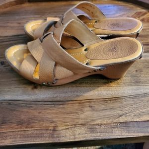 Frye Vintage Strappy Leather Wrapped Wedge Sandal